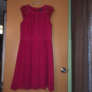 City Chic red lace dress size 14